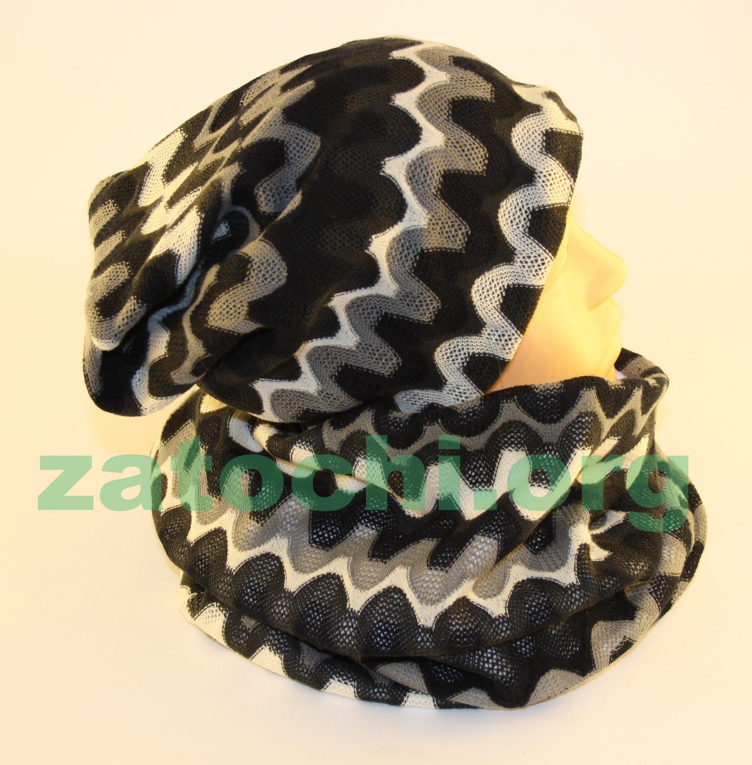 Комплект шапка-шарф.