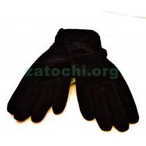 Перчатки из замши