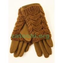 Перчатки женские шерсть и трикотаж