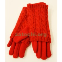 Перчатки женские шерсть и трикотаж.